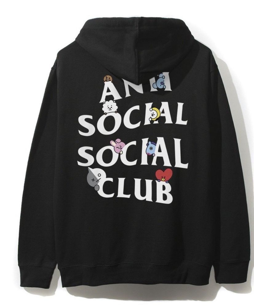 3b51c903a510 ASSC X BTS Anti Social Social Club BT21 Black Hoodie Size M Order Confirmed   fashion  clothing  shoes  accessories  mensclothing  activewear (ebay link)