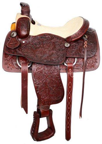 Circle S Roping Saddle With Full Acorn Tool   ChickSaddlery.com