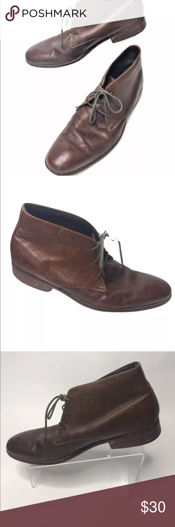 4ffdaa9b459e37 ... Ted Baker Abdon 2 Espadrille Chukka Boots in Blue for Men brand new  a7c7a  Cole Han chukka boots Pebbled leather brown laceup Cole Haan Chukka  Boots ...