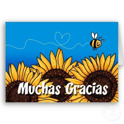 Muchas Gracias Spanish Thank You Card Zazzle Com Mensajes De Agradecimiento Tarjetas De Agradecimiento Gracias