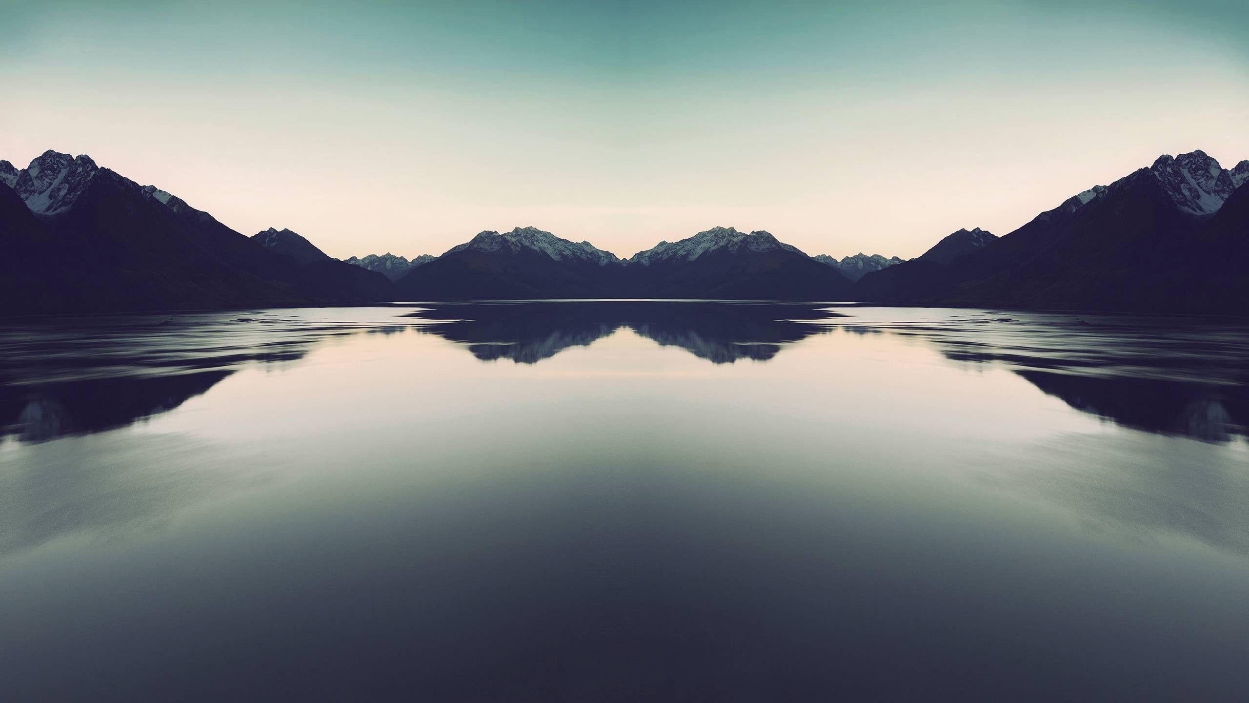 Flat Water Lakes Mountains Natural Nature 2560x1440 Water Lakes Mountains Natural Nature Via Www Allwallpaper Mountain Wallpaper Nature Wallpaper Water