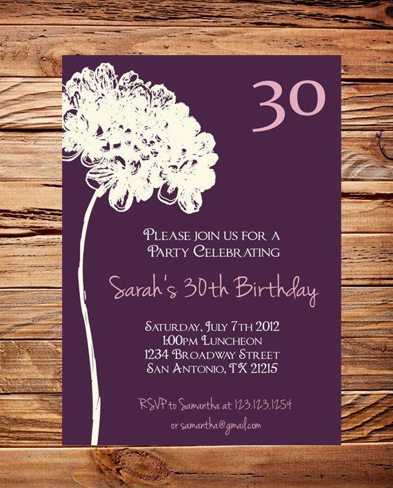 Free Printable 30th Birthday Party Invitation Templates – Thirtieth Birthday Invitations
