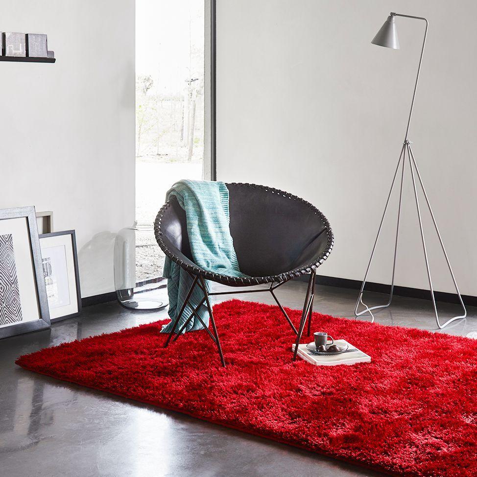 Teppich New Glamour Rot Hochflor Teppich Teppich Wohnzimmer Einrichten Ideen