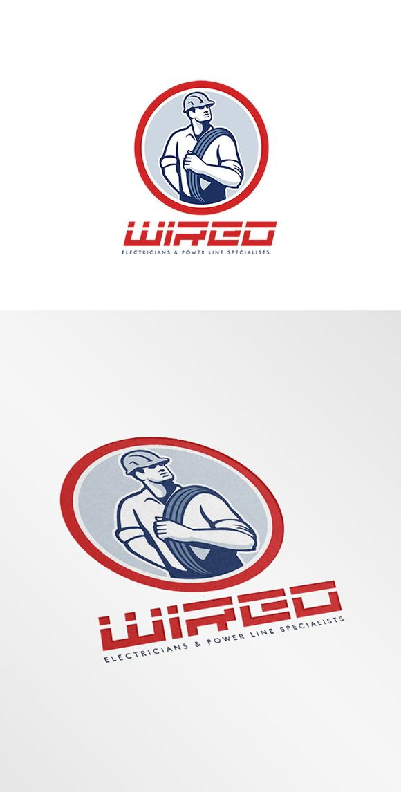 Wired Electricians Logo | Logos, Logo templates and Fonts