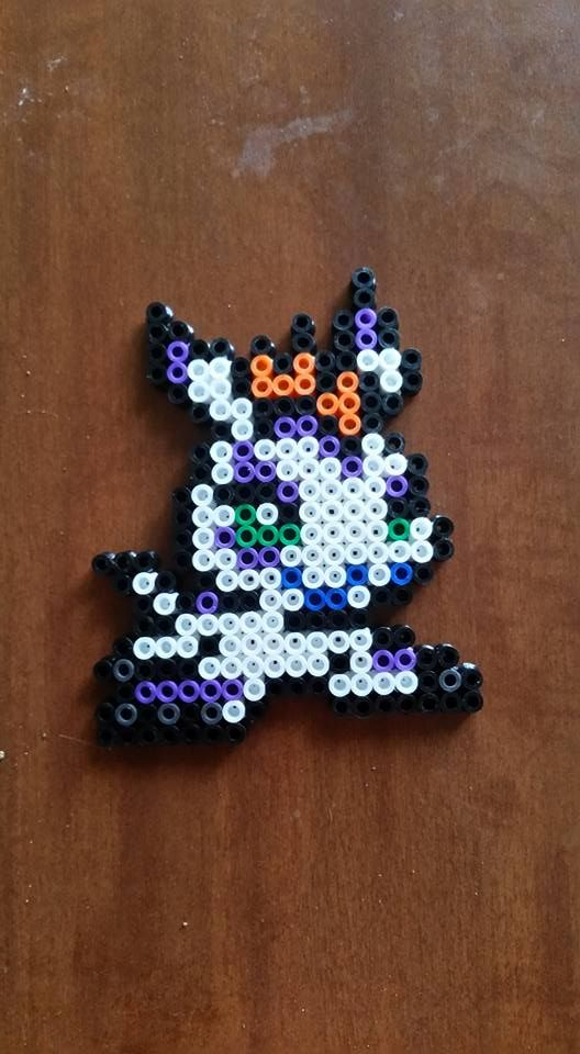 Gomamon - Digimon perler beads by wxrchief