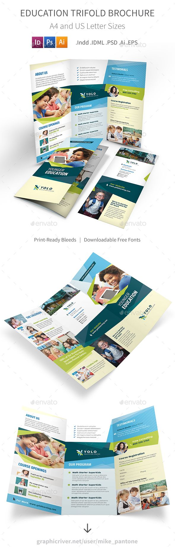 Education Trifold Brochure   Brochures Brochure Template And