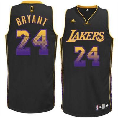 67cc5160fb2f Kobe Bryant Swingman In Black Adidas NBA Los Angeles Lakers Vibe  24 Men s  Jersey