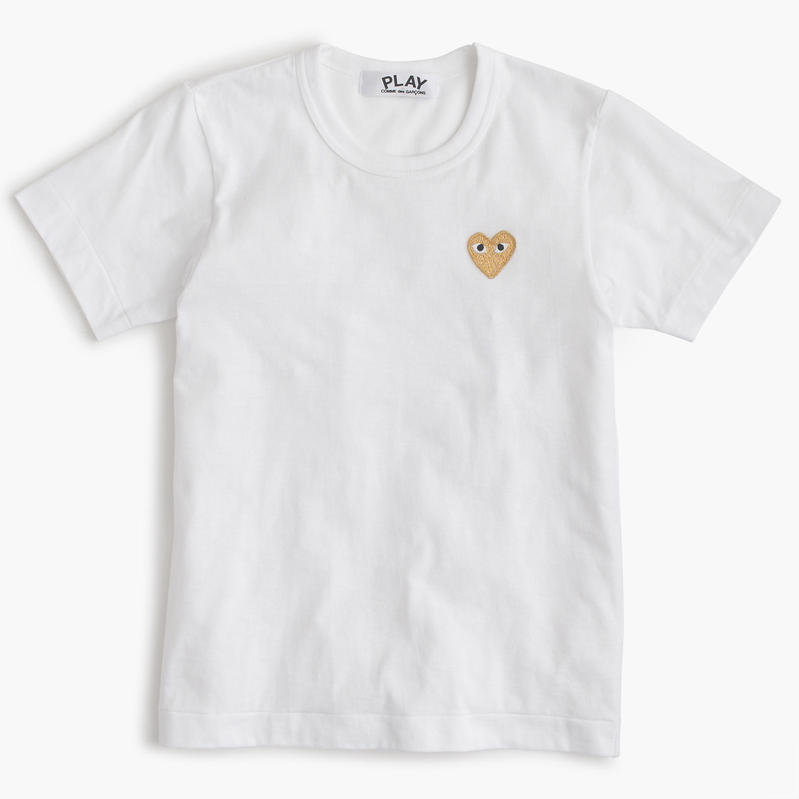 J.Crew Valentine's Day Shop: women's PLAY Comme des Garçons® gold heart T-shirt.