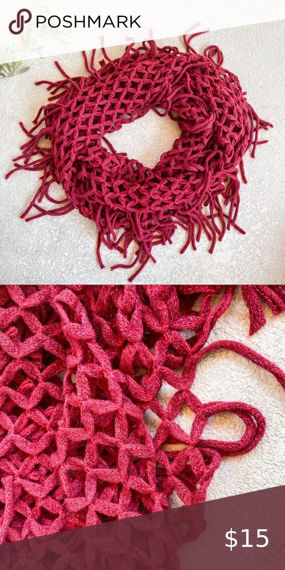 Photo of Francescas Berry Pink Fransen Infiniti Schal – Kurzbeschreibung – Berry Pink Inf …