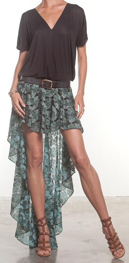 Boho Hi Lo Skirt Bohemian Hippie Style Fashion Boho Fashion