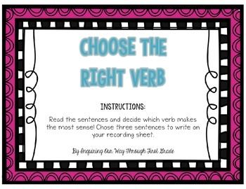 Choose the Right Verb!