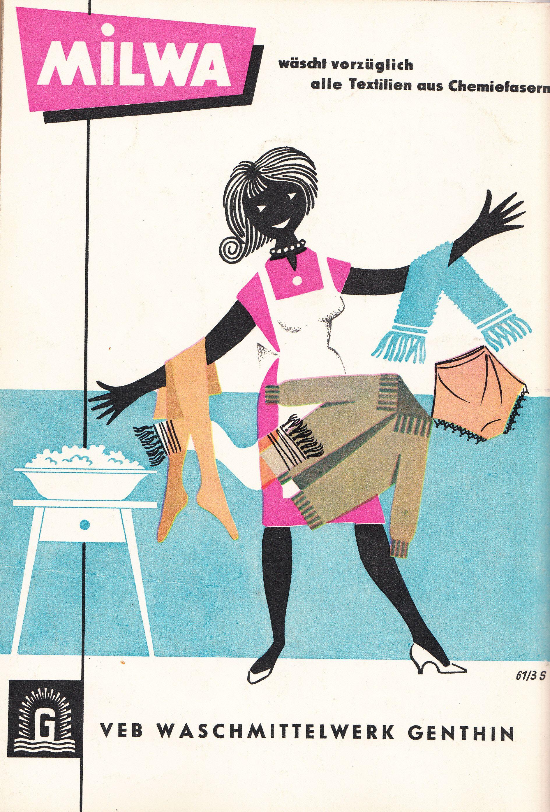 Milwa Veb Waschmittelwerk Genthin East German Ad Ddr Werbung 1961 Vintage Advertisements Print Ads Vintage Ads