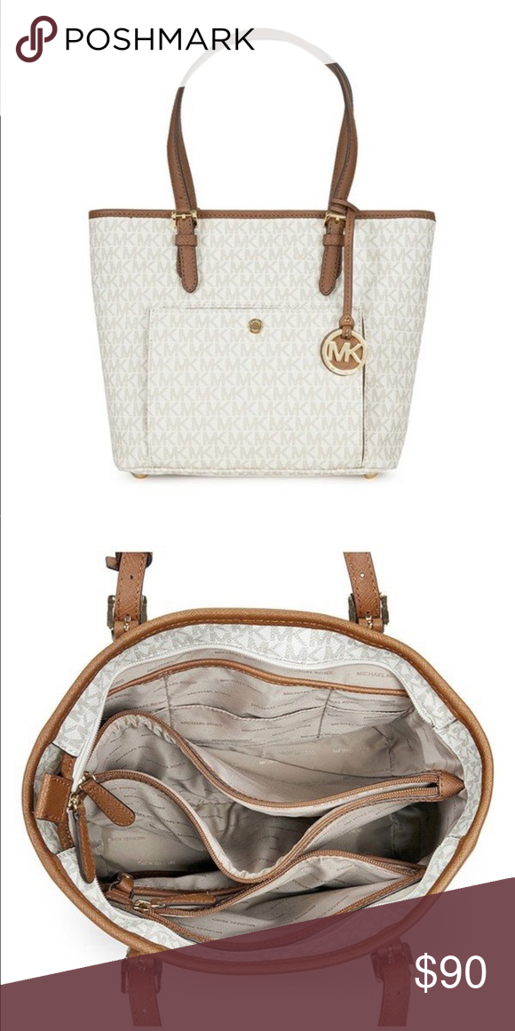 cc6509002046 White MK purse In good condition Michael Kors Bags Totes | My Posh ...