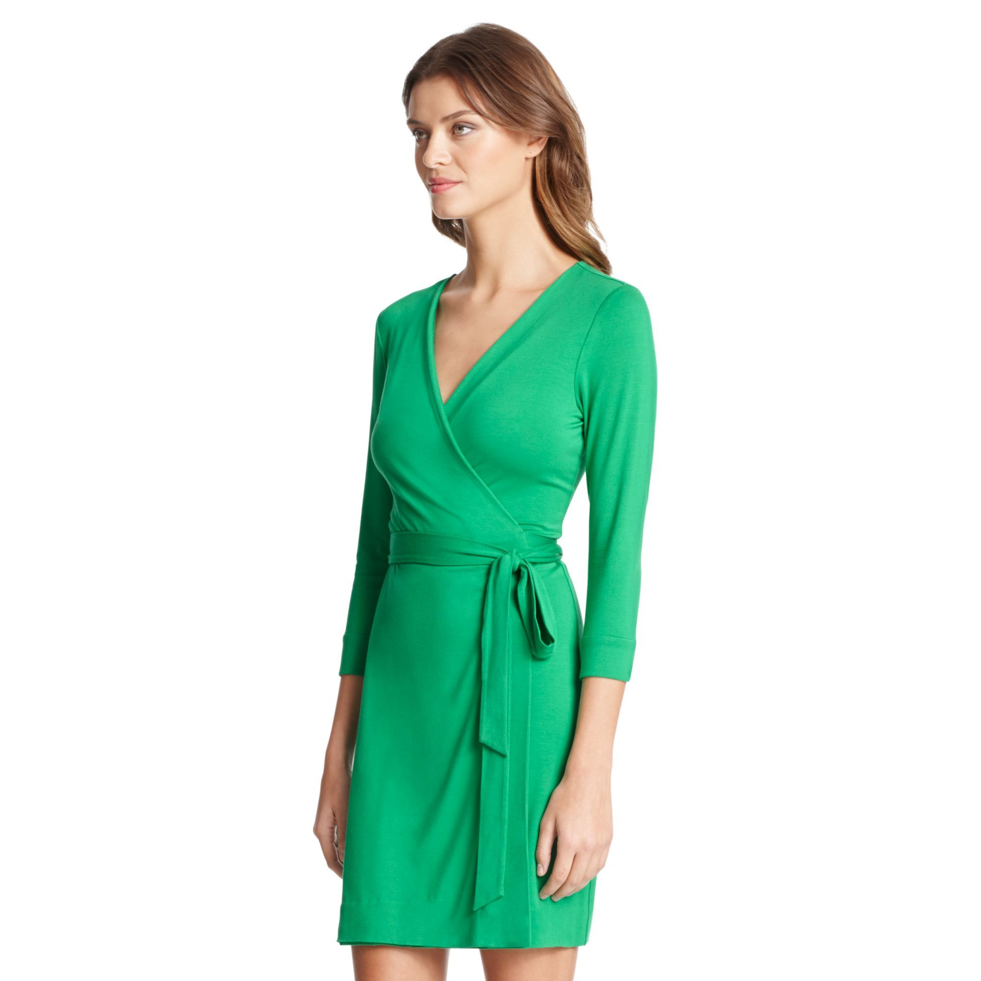New Julian Two Mini Jersey Wrap Dress | by DVF