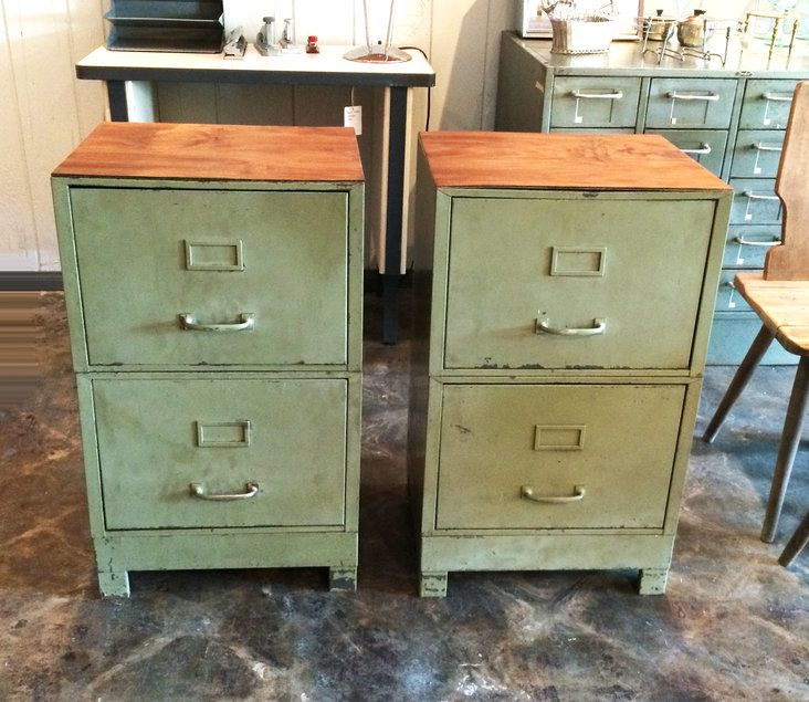 Great These Vintage Industrial File Cabinets Are Heavy Duty Metal! Original  Vintage Patina. Industrielle Attitude