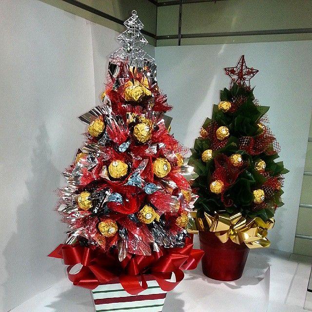 Ferrero Rocher Christmas Trees At Hanging Basket Florist