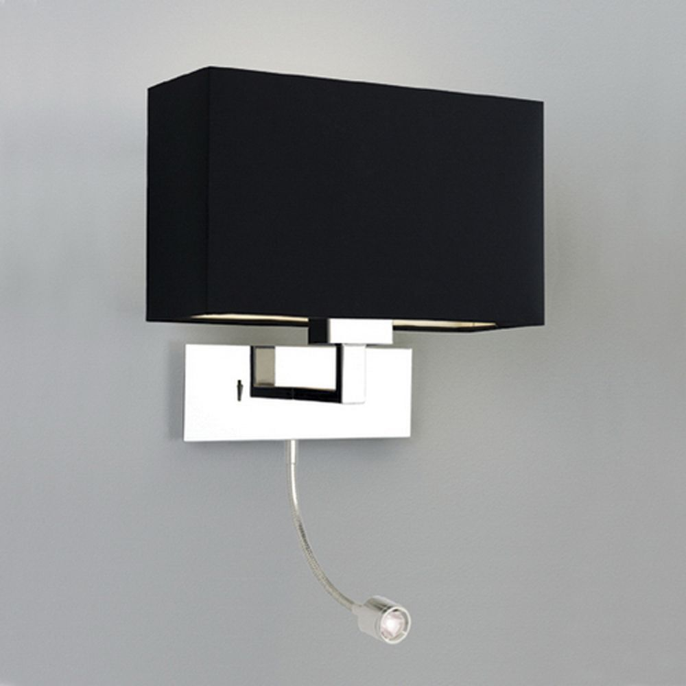 Reading lights for bedroom - Astro Astro Park Lane Grande Polished Chrome Led Wall Reading Light