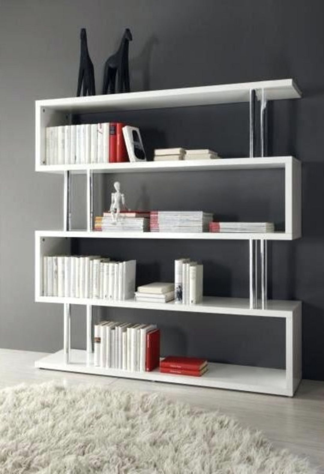 35 Unique Minimalist Bookshelf Designs To Keep Your Book Collection Teracee Minimalist Bookshelves Bookshelf Design Modern Bookcase