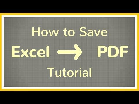 How to Save an Excel File as PDF - Tutorial - YouTube Excel / Word