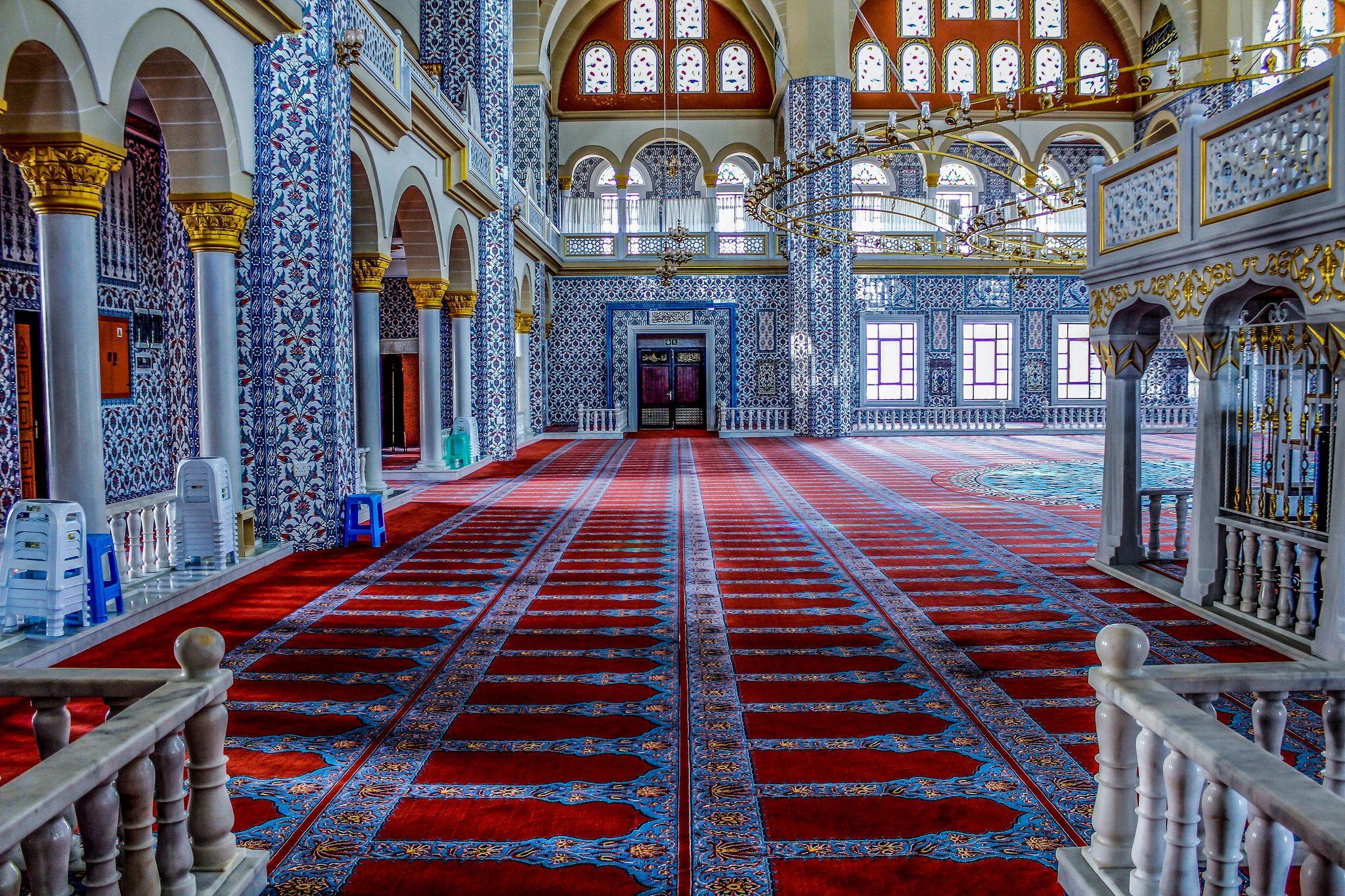 Inside The Nizamiye Turkish Mosque Midrand Johannesburg Mosque Beautiful Mosques Islamic Architecture