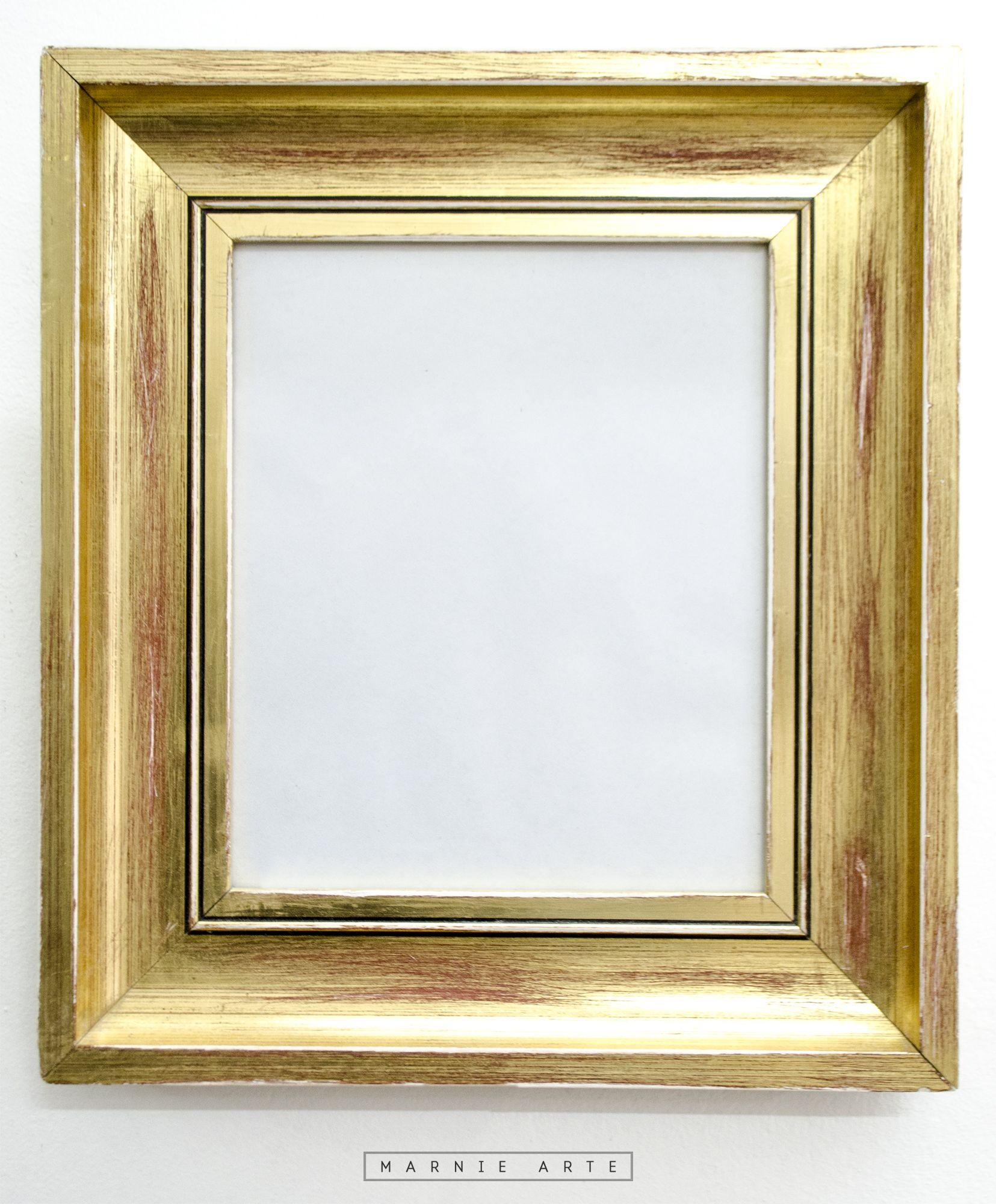 Marco dorado gastado marcos para cuadros pinterest for Marcos para cuadros