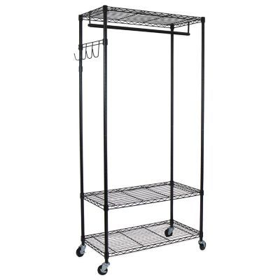 Bed Bath And Beyond Garment Rack Mesmerizing Bed Bath & Beyond Oceanstar Garment Rack With Adjustable Shelves And Design Ideas