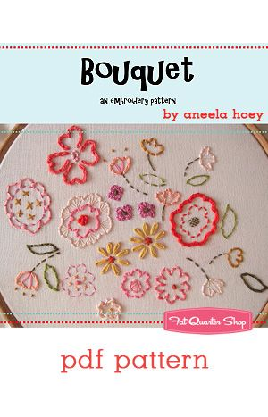 Bouquet+Downloadable+PDF+Embroidery+Pattern+Aneela+Hoey