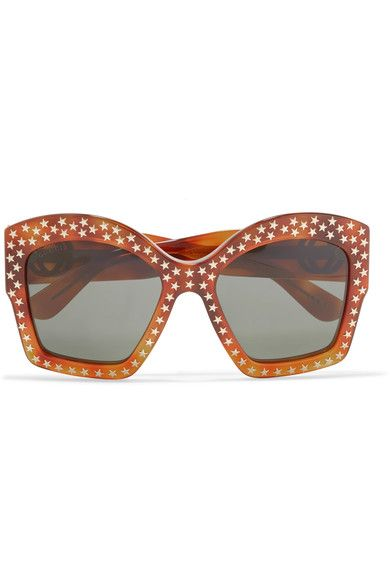0538e3db2 Gucci - Studded square-frame acetate sunglasses | // T H R O W I N G ...