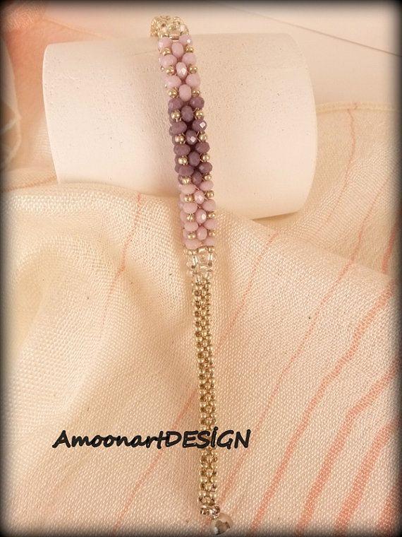 Abalorios pulsera delicada chispa hecha a mano brazalete