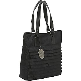 ''Ruffle My Feathers'' Ladies Vertical Laptop Tote Black
