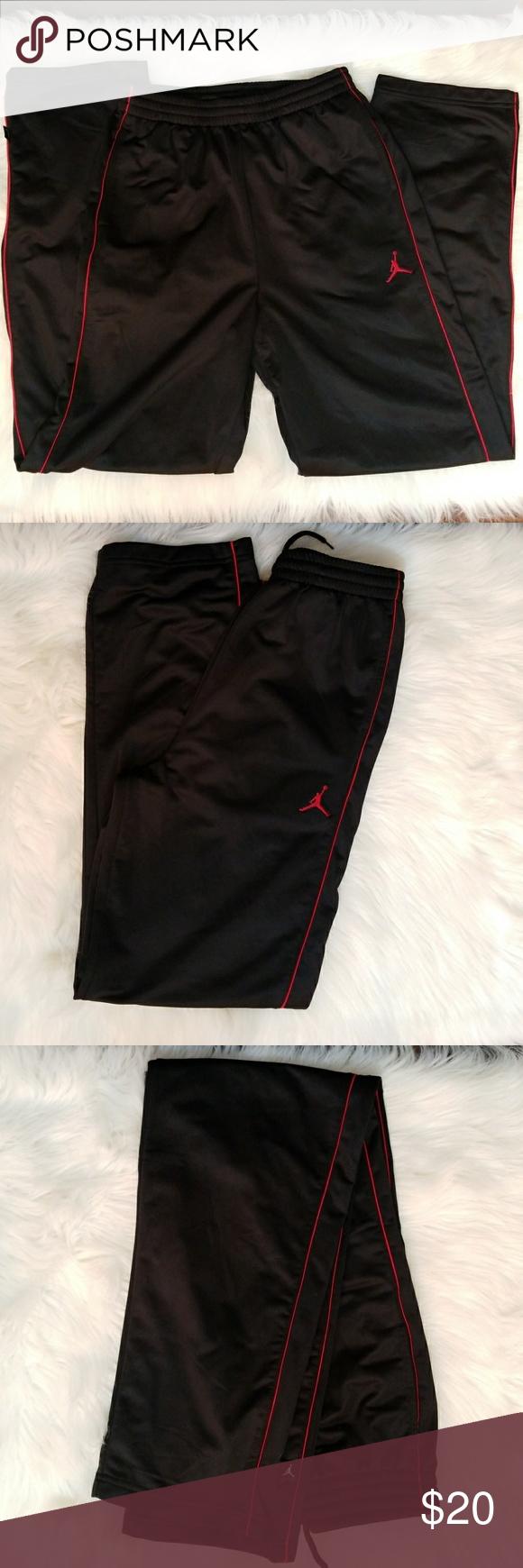 11ee9b7e254f6c Jordan Track Jogging Pants (Youth XL) Jordan Black with Red Track Jogging  Pants. Youth XL 13-15 yrs 158 - 170 CM as seen in photo. Worn 1 - 2 times.