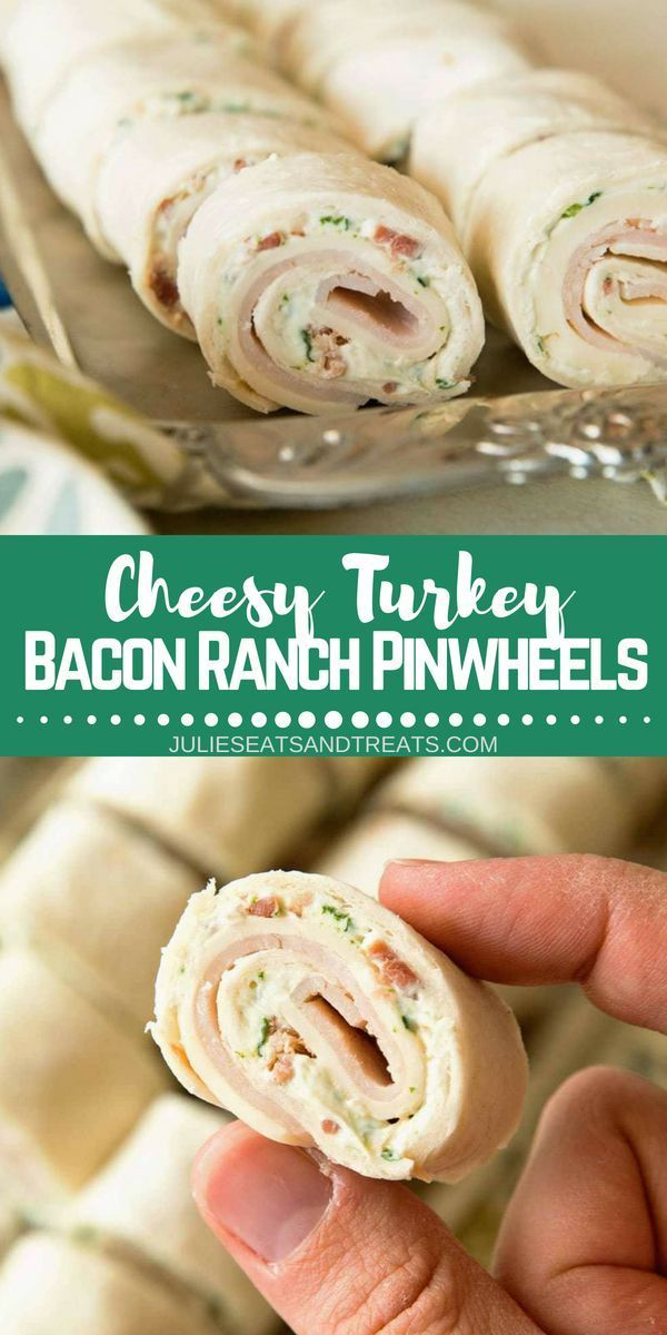 Photo of Cheesy Turkey Bacon Ranch Pinwheels