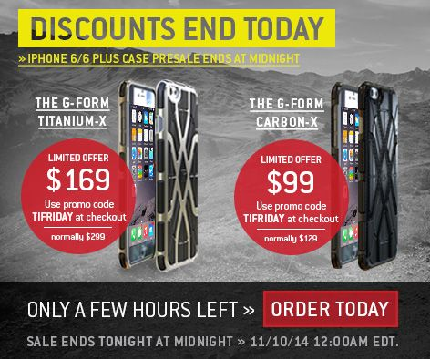 Last chance to get a sweet deal on G-Form's new TITANIUM-X AND ...