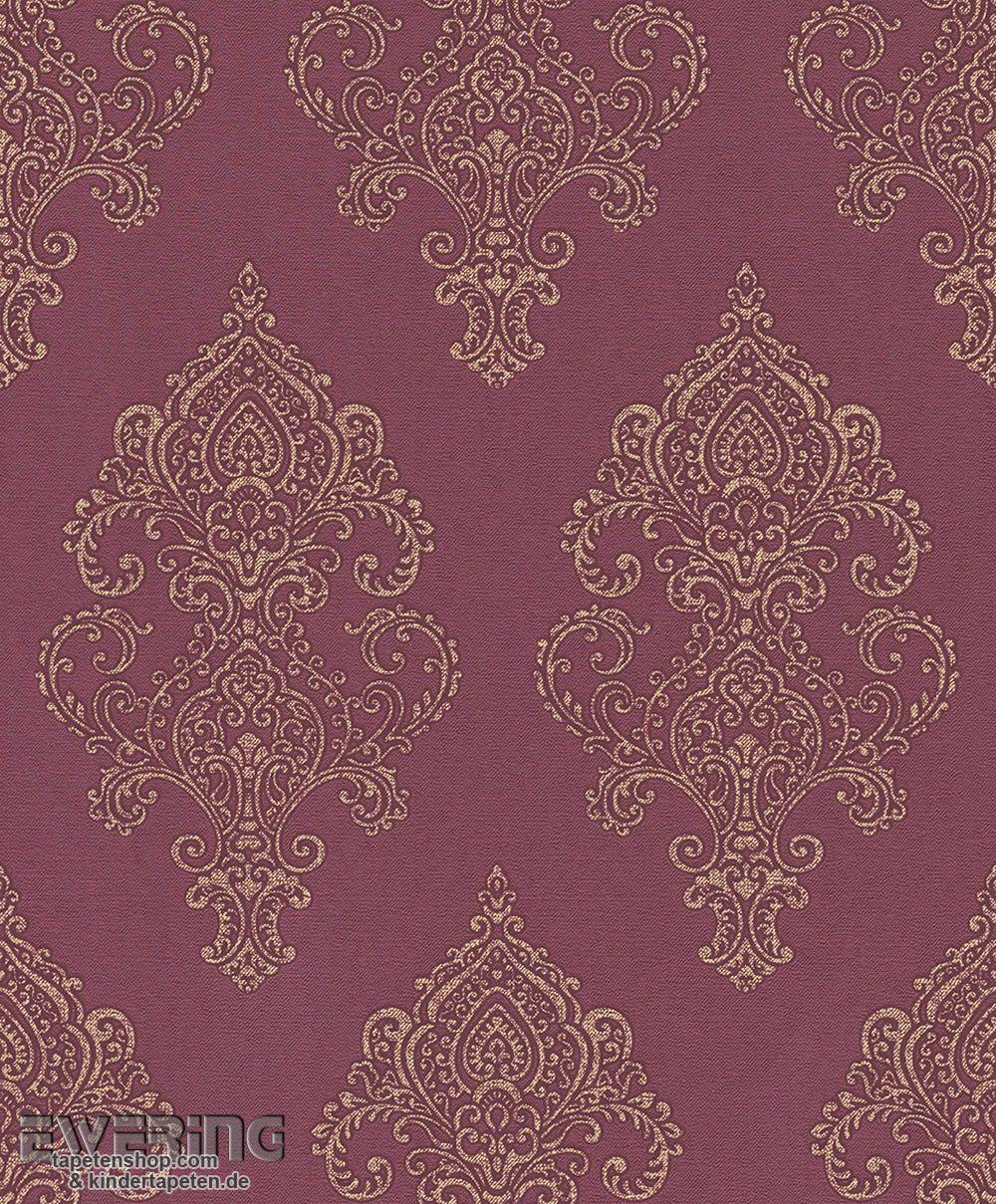 vliestapeten wohnzimmer : 23 225845 Amira Rasch Textil Wein Rot Vliestapete Ornament