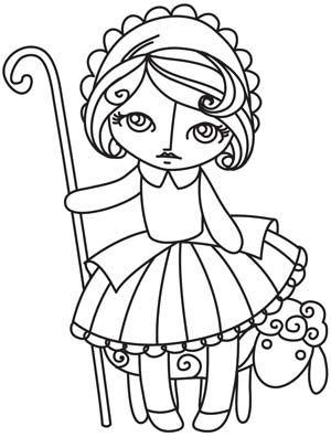 Nursery Rhymes Little Bo Peep Design Uth4836 From Urbanthreads Com Little Bo Peep Embroidery Peep Image