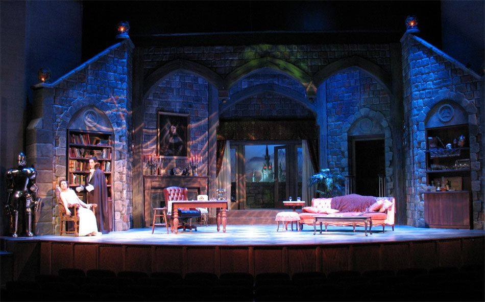 scenic design for the theater.. Count Dracula, Pitt. Rep