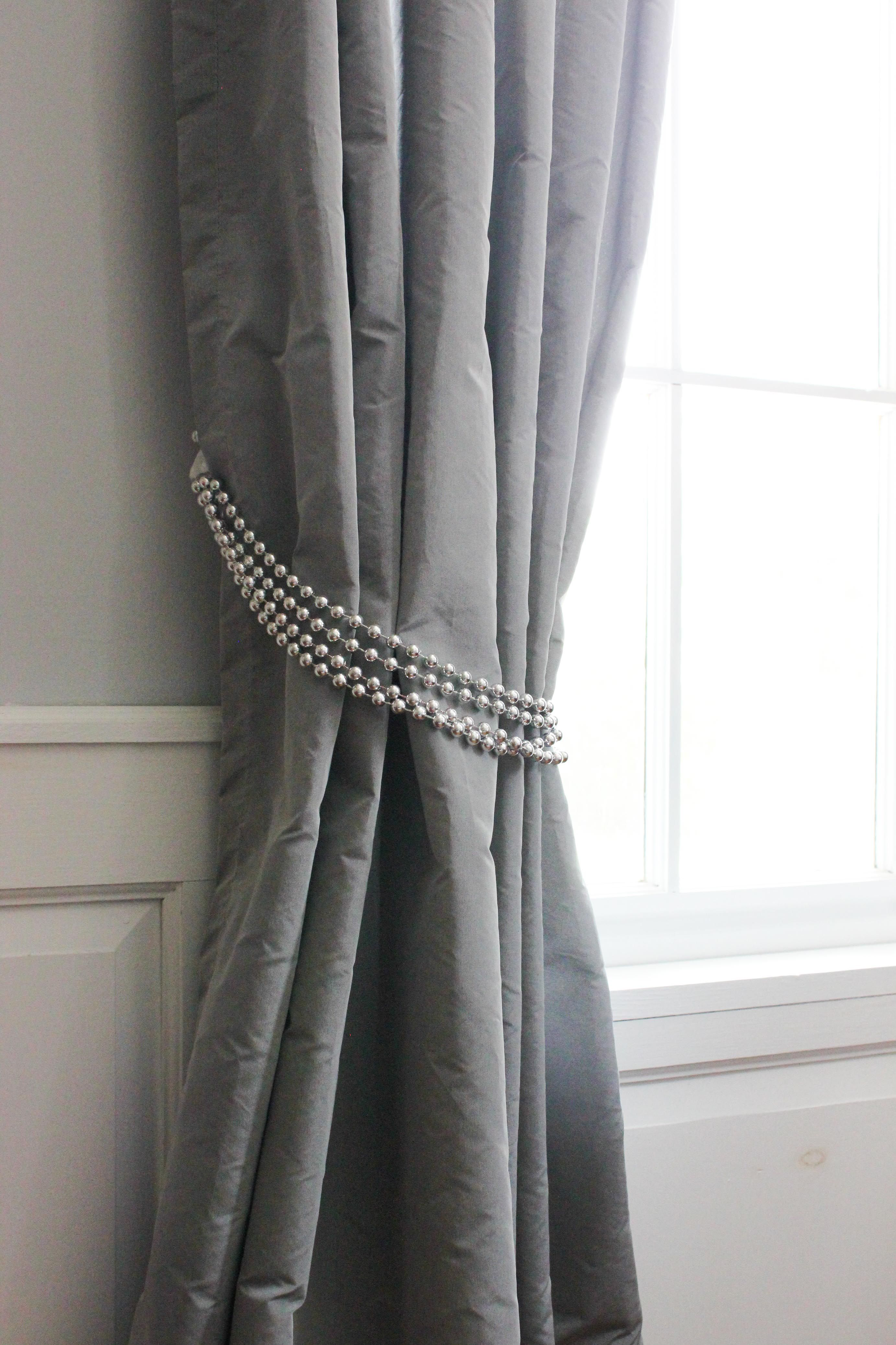 Diy Decorative Curtain Tie Backs Shower Curtain Decor Curtain