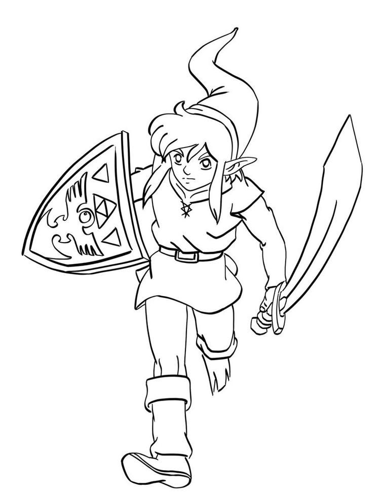 Link Zelda Coloring Pages Hello Kitty Colouring Pages Bear Coloring Pages Bee Coloring Pages
