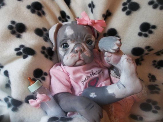 Custom Made To Order Reborn Puppy Dog Art Doll Vinyl