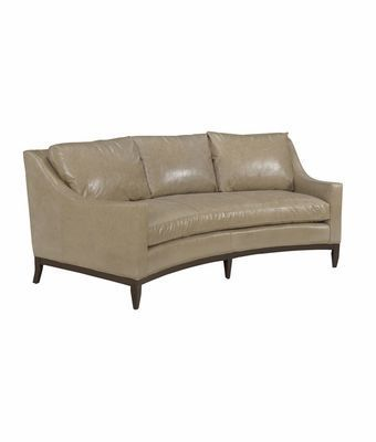 Cedric Designer Style Curved Conversation Leather Sofa