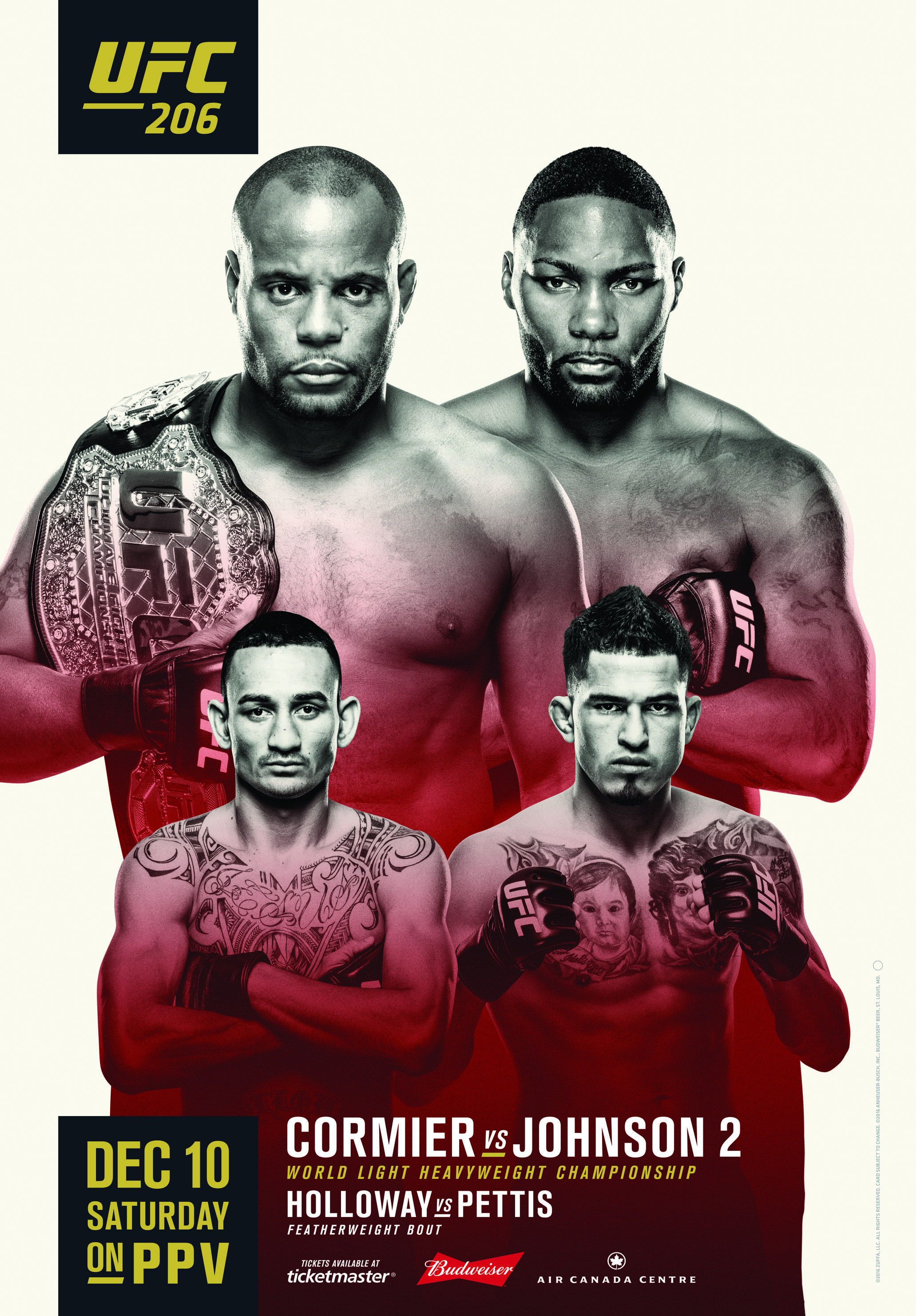 The Official Ufc 206 Poster Is Here Mma Fans You Ready For This Fight Ufc Poster Mma