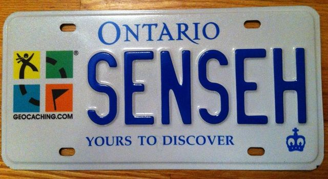 Geocaching Graphic On Ontario License Plates Geocaching