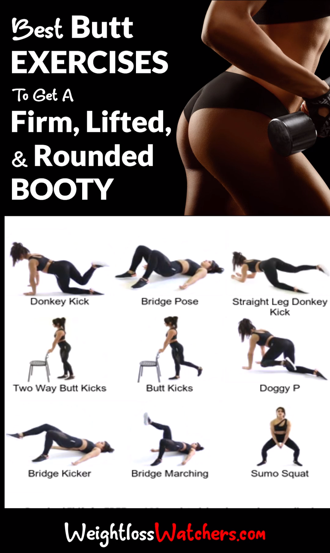 Best Butt Exercises To Get A Firm, Lifted, And Rounded Booty #And #Lifted, #Boot…