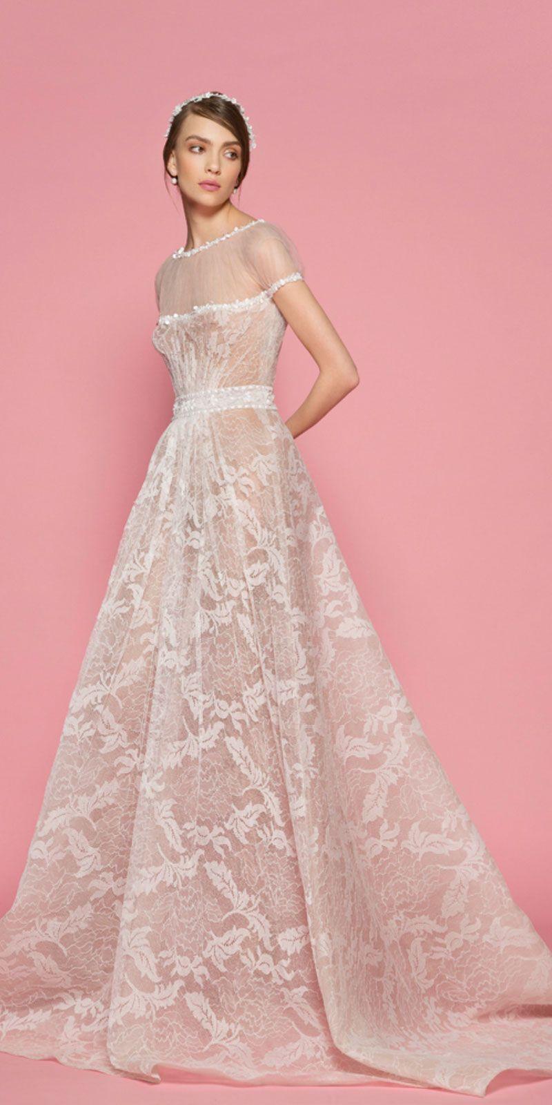 Georges hobeika wedding dresses short sleeves wedding dress