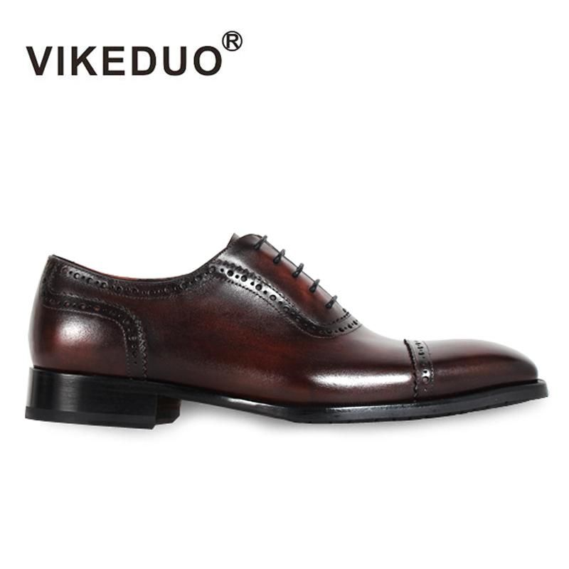 2018 New Superstar Handmade Vintage Mens Oxford Shoes Hot Genuine Leather  Wedding Party Dress Meeting Office Original Design e810104661fb
