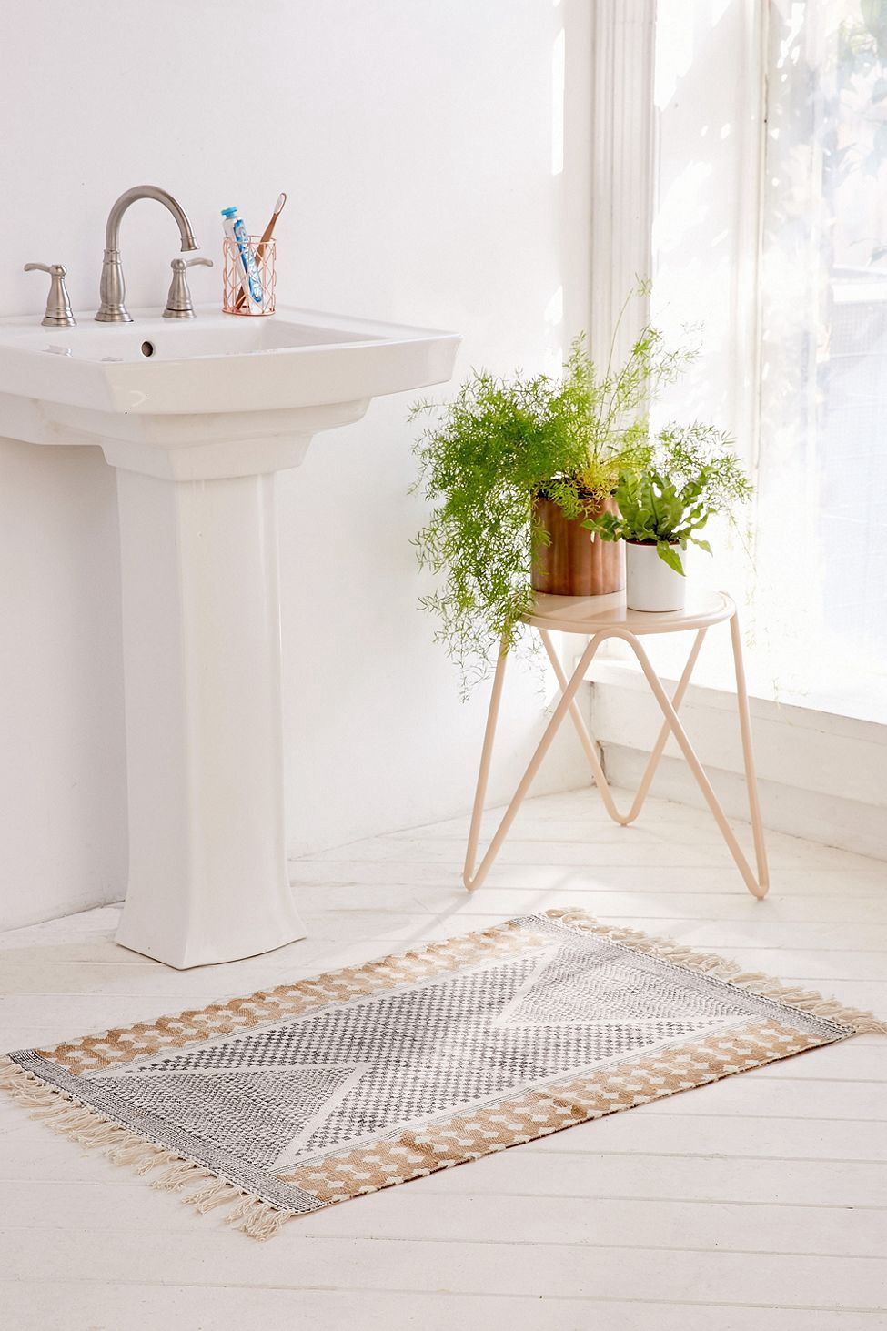 black and white kitchen rug cabinets columbus calisa block printed for the home t rugs bathroom
