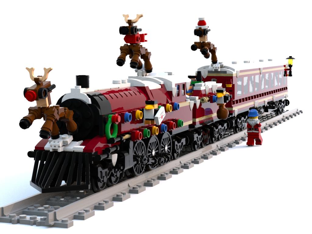 Lego Christmas Train.Entry Details Page Rebrick Lego Com Lego Lego