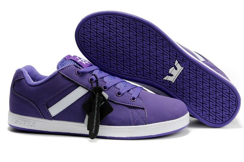 Supra Bullet Low Mens Shoes - Purple/White | {style} men shoes ...