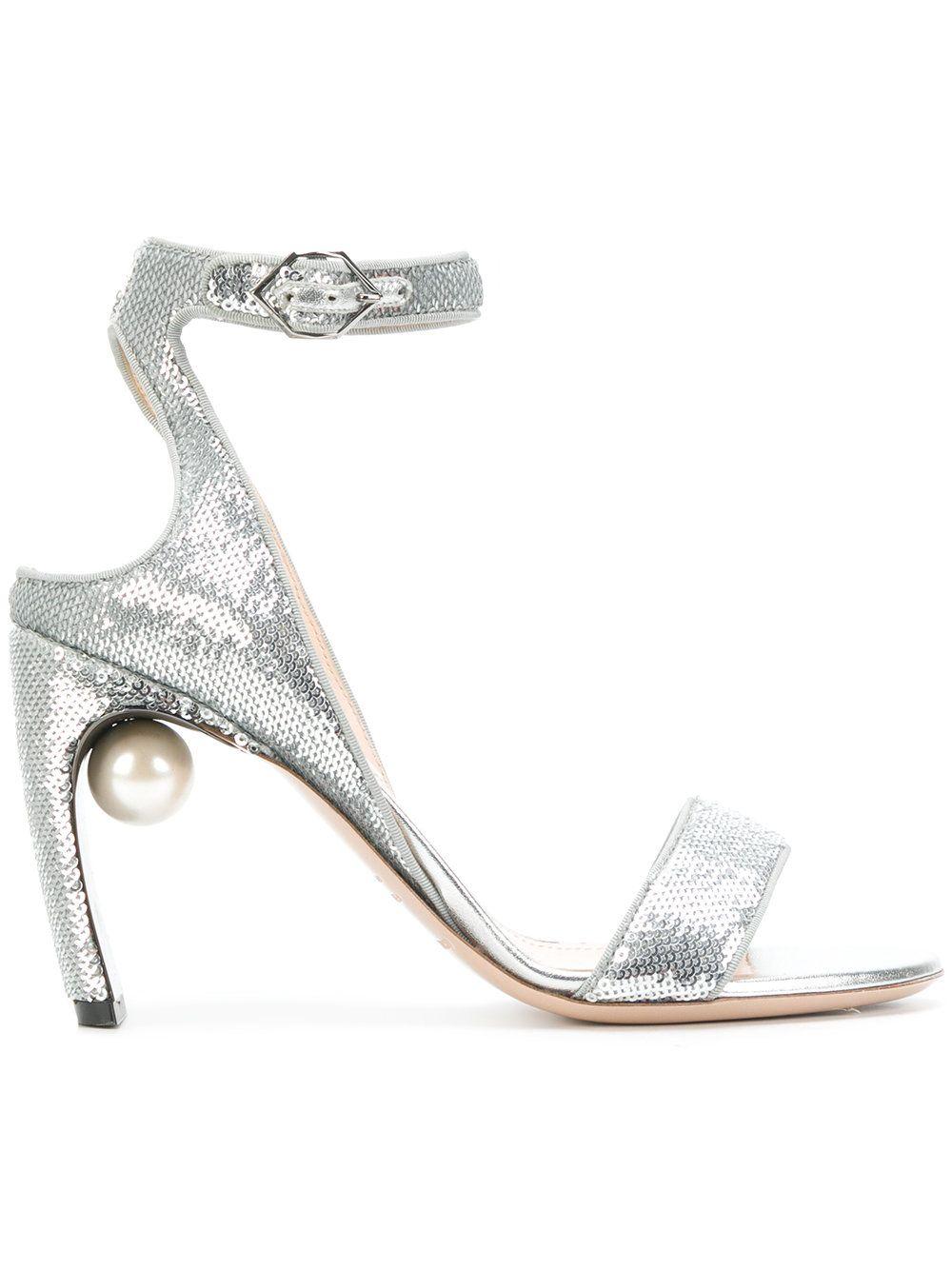 Lola pearl sandals - Metallic Nicholas Kirkwood LBFip