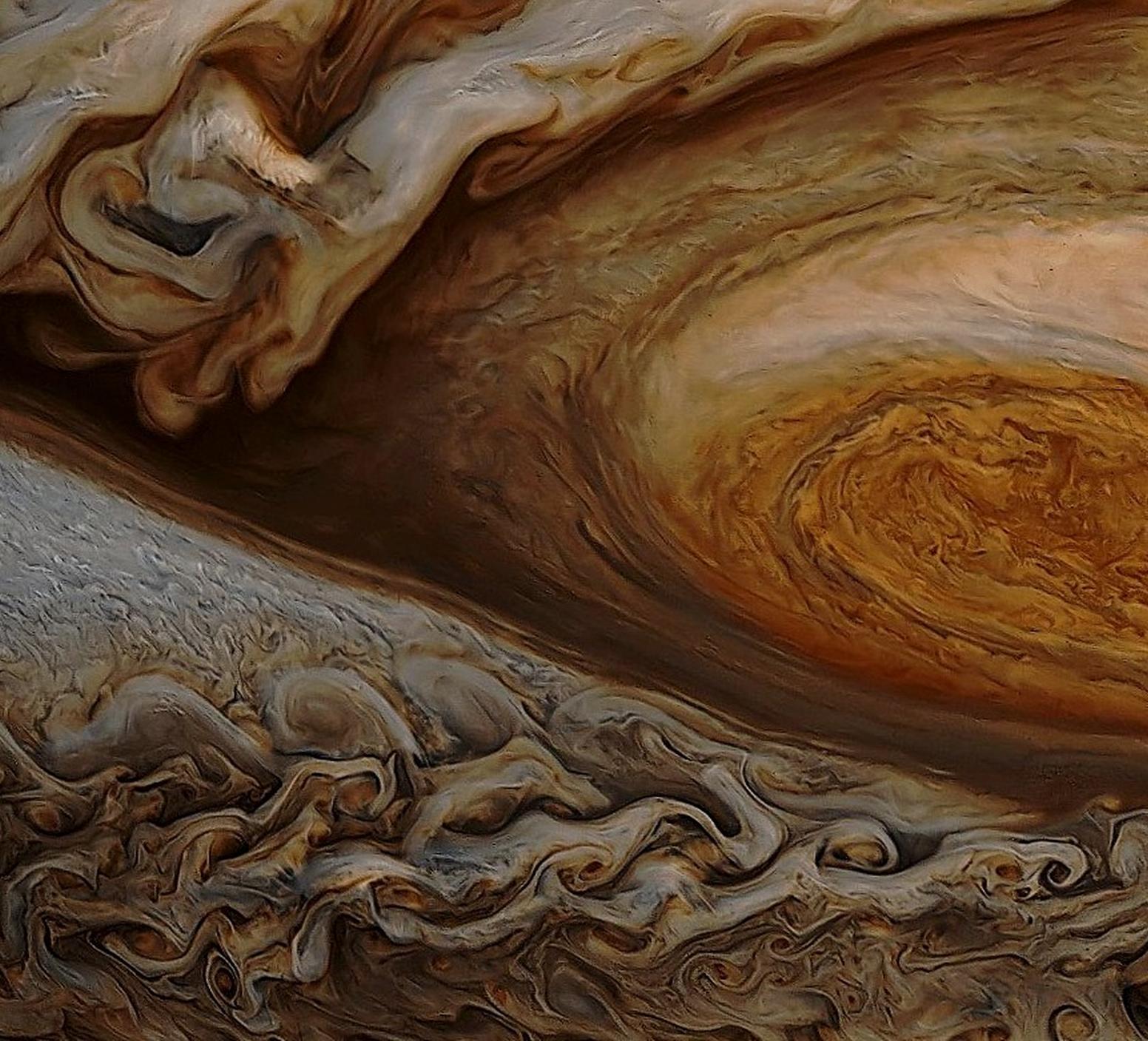Jupiter close-ups | Close up of Jupiter's giant storm | The Omnichronicle